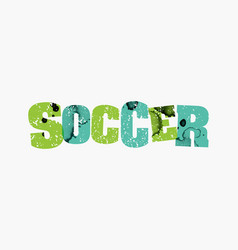 soccer concept colorful stamped word vector image vector image