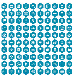 100 taxi icons sapphirine violet vector