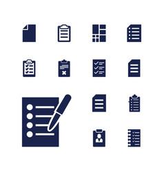 13 list icons vector