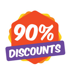 90 off discount promotion sale sale promo market vector image