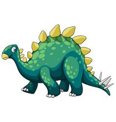 A stegosaurus dinosaur cartoon character vector
