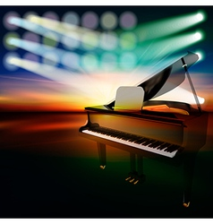 abstract dark jazz background with grand piano on vector image