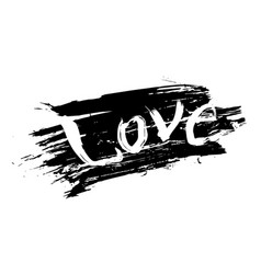 abstract design of lettering love vector image