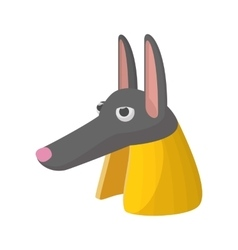 Anubis head icon cartoon style vector image