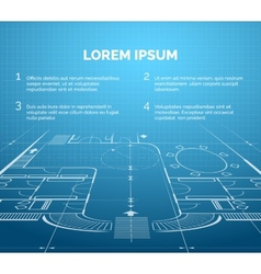 Architectural blueprint background vector