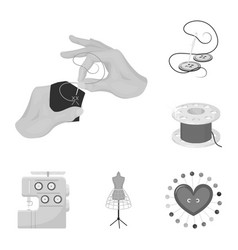 Atelier and equipment monochrome icons in set vector