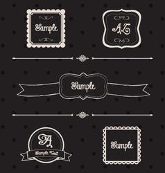 Blackboard frames and design elements vector image