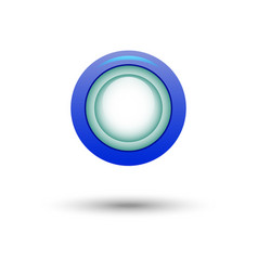 blue button for website vector image