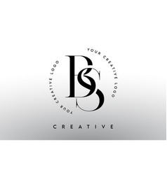 Bs letter logo design with serif typography font vector