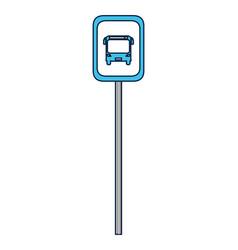 Bus stop roadsign vector