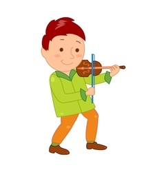 Cartoon musician kid for vector