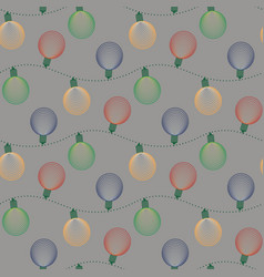 christmas seamless pattern with ball electric vector image