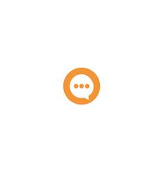 circle message logo design symbol dan icon vector image