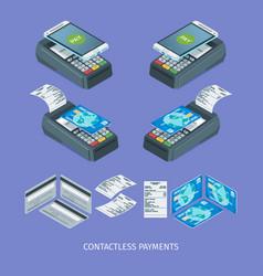 contactless payment terminal vector image
