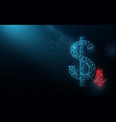 coronavirus impact global economy stock markets vector image