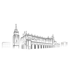Cracow outline image vector