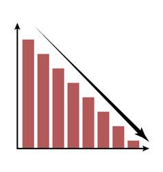 crisis icon chart vector image