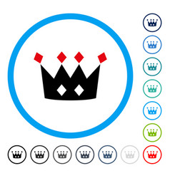 Crown rounded icon vector