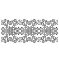 Decorative ornate design stripe pattern ethnic vector