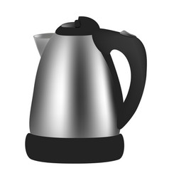 electric kettle on white background vector image vector image