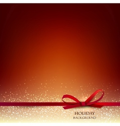 Elegant Christmas Red background with Red bow and vector image