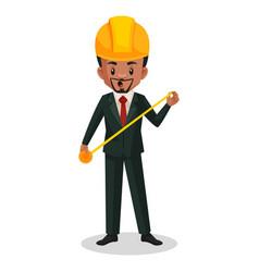 engineer cartoon character vector image