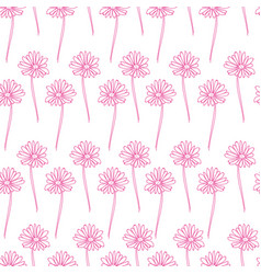 floral seamless pattern background flower vector image