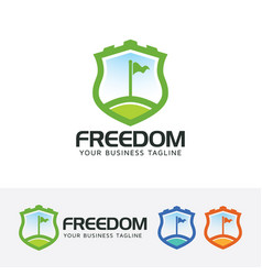 freedom logo design vector image
