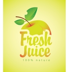 fresh juice with a picture apple vector image