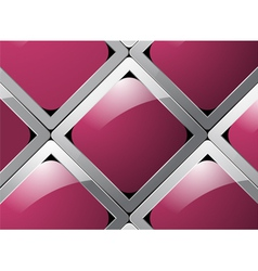 Glossy square abstract background vector image
