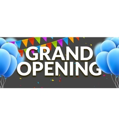 Grand opening event invitation banner vector