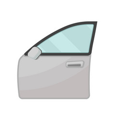 gray door of motor car with blue glass and rear vector image
