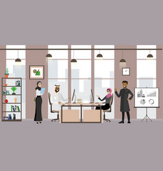 group arab businessmen or office workers vector image