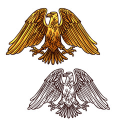 Heraldic eagle symbol of power and strength vector