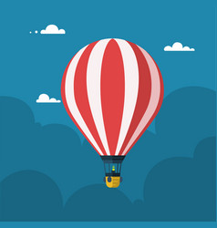 hot air balloon flat cartoon design vector image