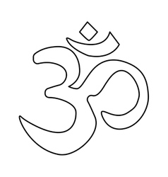 If hinduism symbol vector image