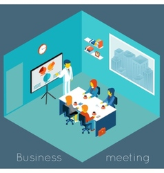 isometric 3d business meeting vector image