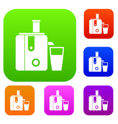 Juicer set collection vector