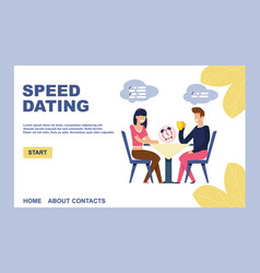Landing page inviting on effective speed dating vector