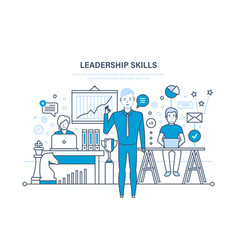 leadership skills leadership development vector image