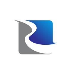 logo emblem letter r vector image