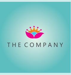 lotus logo ideas design vector image