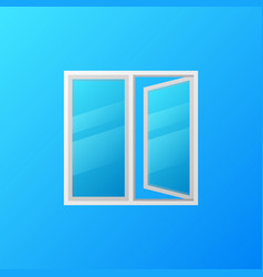 modern plastic window with blue glass vector image
