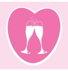pink love heart vector image
