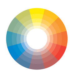 Polychrome multicolor spectral shades circle vector