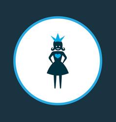 Queen icon colored symbol premium quality vector