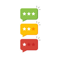 Rating star like feedback concept notice vector