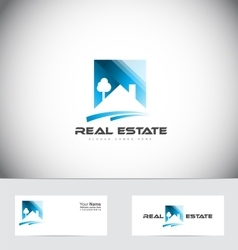 Real estate house roof logo design vector