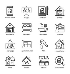 Real estate icon set professional investment vector