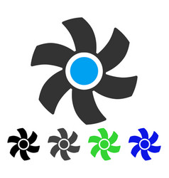 Rotor flat icon vector